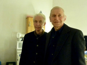 Charlie Watts & Fred Gretsch backstage